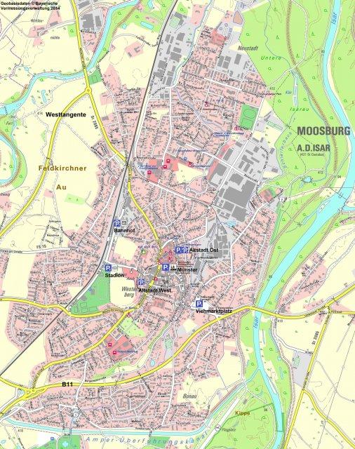 Übersicht über Moosburg