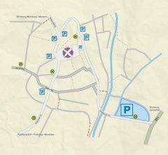 Grossansicht in neuem Fenster: Moosburger Wochenmarkt Parken