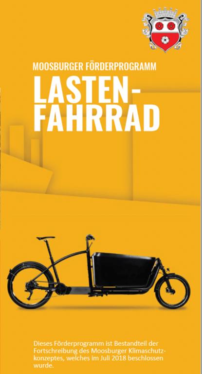 Foto Flyer Lastenfahrrad