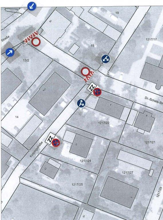 Grossansicht in neuem Fenster: Dr.-Schels-Straße bis Kreuzung Kolpingstraße-08-2020